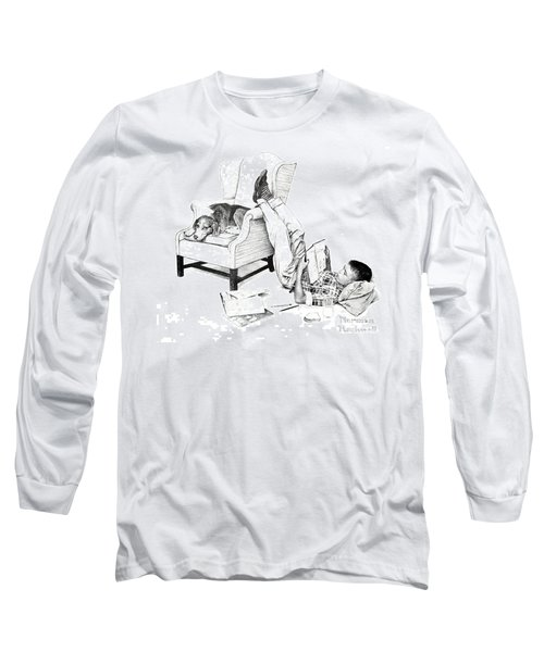 Teenager Studying Long Sleeve T-Shirt