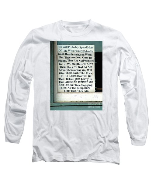Temporary Gifts Long Sleeve T-Shirt
