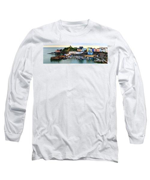 Tenby Harbour Panorama Long Sleeve T-Shirt