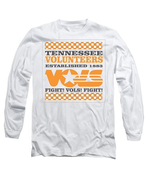 Tennessee Volunteers Fight Long Sleeve T-Shirt by Debbie Karnes