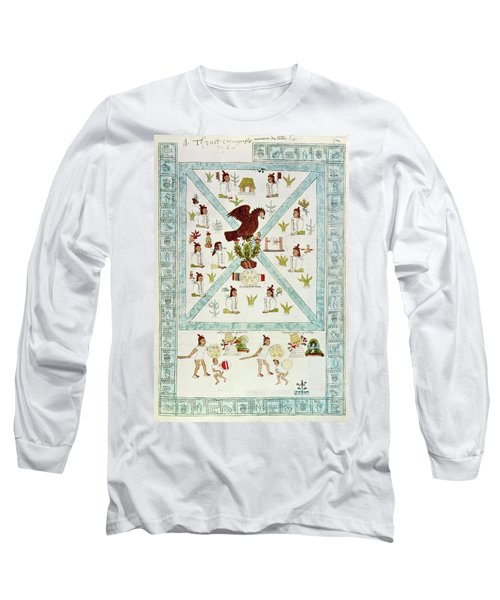 Tenochtitlan (mexico City) With Aztec Long Sleeve T-Shirt