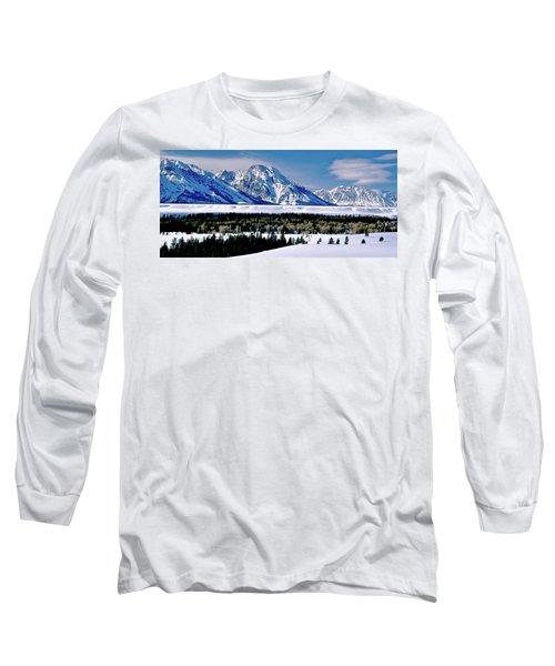 Teton Valley Winter Grand Teton National Park Long Sleeve T-Shirt by Ed  Riche