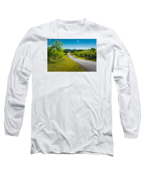 Texas Hill Country Road Long Sleeve T-Shirt by Darryl Dalton