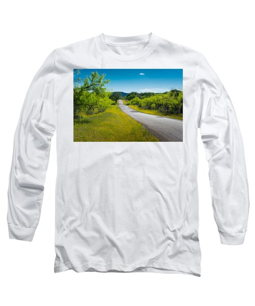 Texas Hill Country Road Long Sleeve T-Shirt