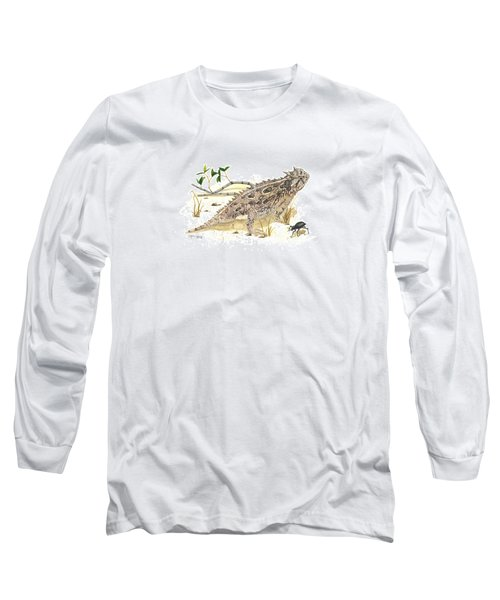 Texas Horned Lizard Long Sleeve T-Shirt