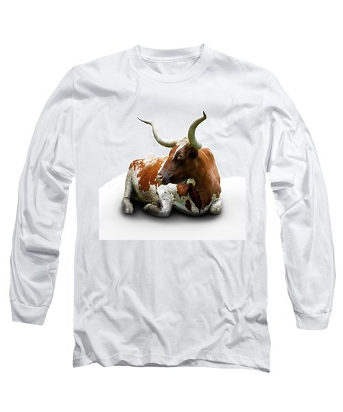 Texas Longhorn Bull Long Sleeve T-Shirt