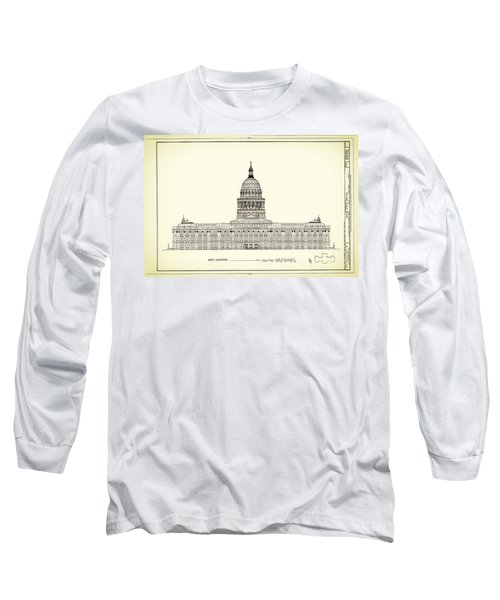Texas State Capitol Architectural Design Long Sleeve T-Shirt