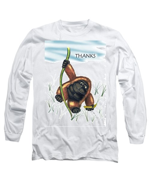 Thanks Long Sleeve T-Shirt by Jerry Ruffin