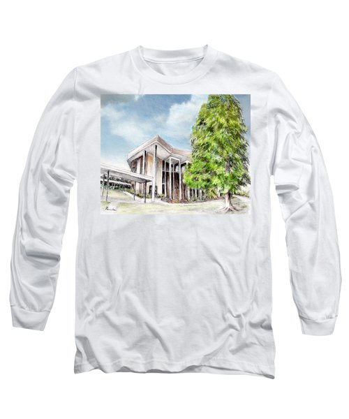 The Angles Of A Modern Architecture  Long Sleeve T-Shirt by Danuta Bennett