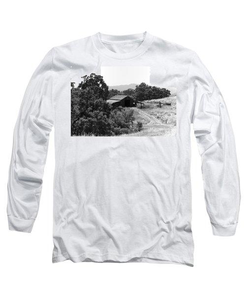 The Barn Long Sleeve T-Shirt by Richard J Cassato