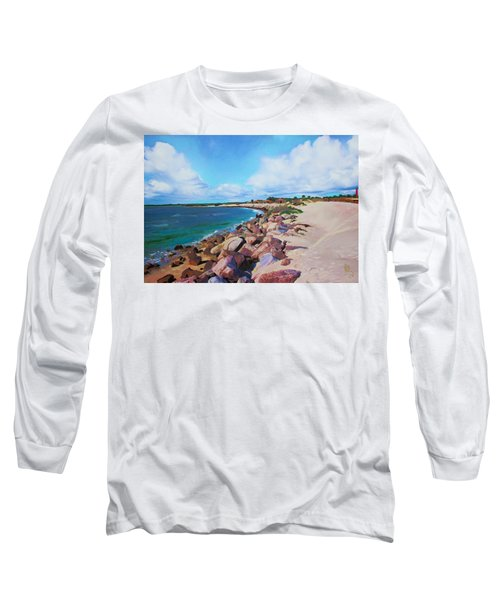 The Beach At Ponce Inlet Long Sleeve T-Shirt