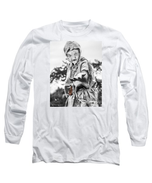 Long Sleeve T-Shirt featuring the photograph The Begging Leprous by Stwayne Keubrick