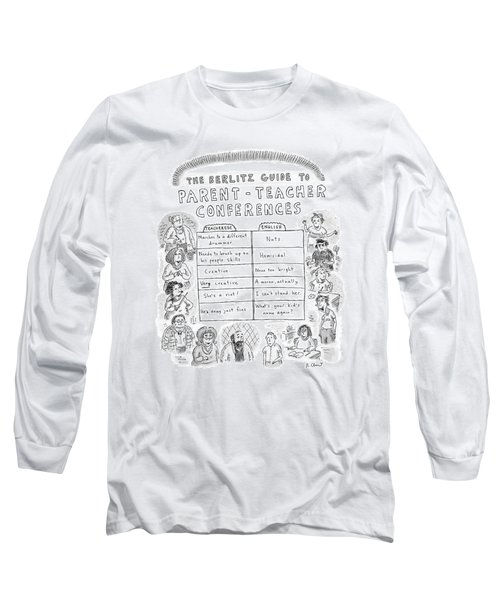 'the Berlitz Guide To Parent-teacher Conferences' Long Sleeve T-Shirt