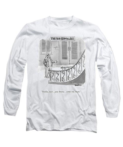 The Big Kowalski -- Main Character Of The Big Long Sleeve T-Shirt
