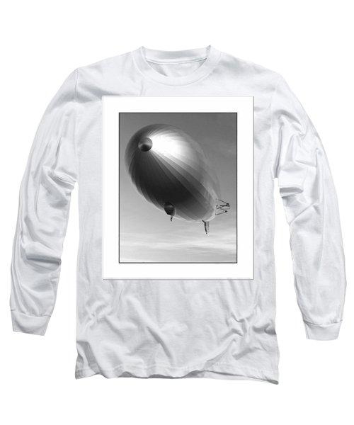 Long Sleeve T-Shirt featuring the digital art The Blimp... by Tim Fillingim