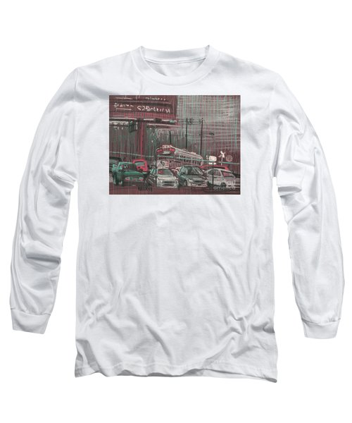 Long Sleeve T-Shirt featuring the painting The Boneyard by Donald Maier