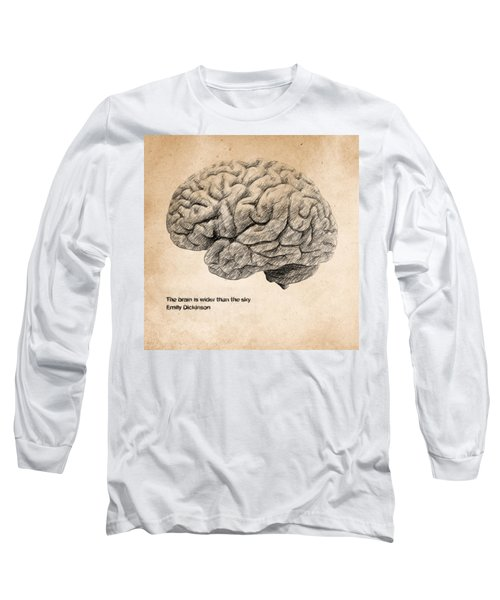 The Brain Is Wider Than The Sky Long Sleeve T-Shirt by Taylan Apukovska