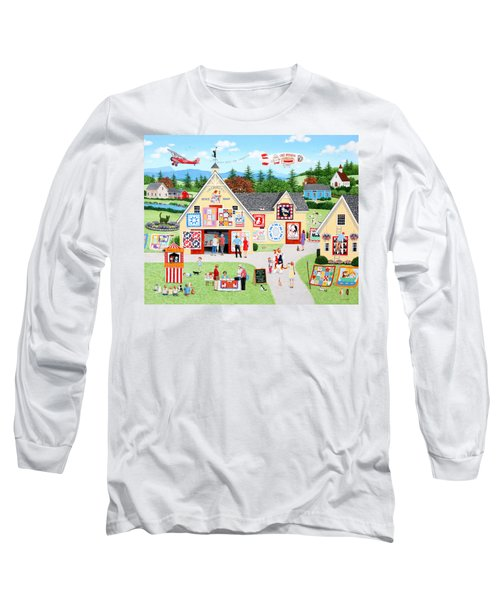 The Calico Cat Quilt Shop Long Sleeve T-Shirt
