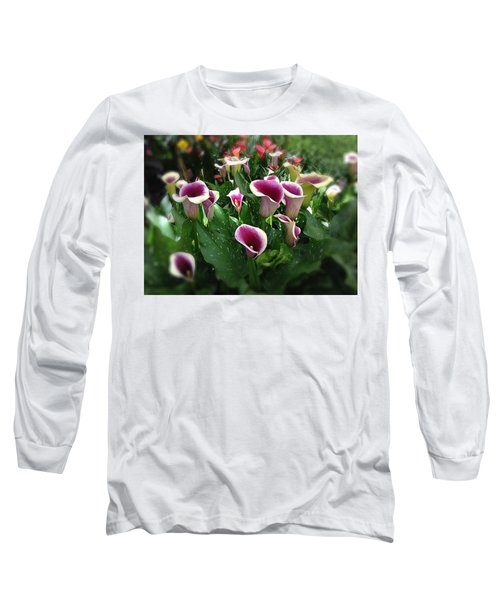 The Calla Lilies Are In Bloom Again Long Sleeve T-Shirt by Mark David Gerson