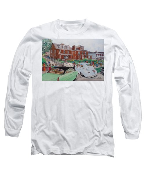 The Car Movers Of Phi Sigma Kappa Osu 43 E. 15th Ave Long Sleeve T-Shirt by Frank Hunter