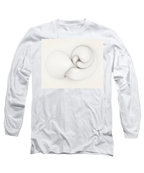 Long Sleeve T-Shirt featuring the digital art The Caress by Casey Kotas