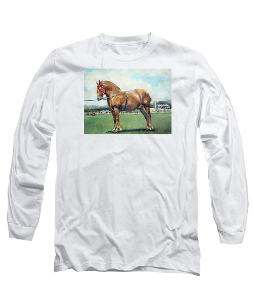 Long Sleeve T-Shirt featuring the painting The Champ by Donna Tucker