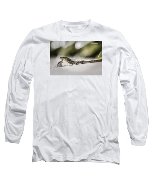 Long Sleeve T-Shirt featuring the photograph The Charming Lizards by Stwayne Keubrick