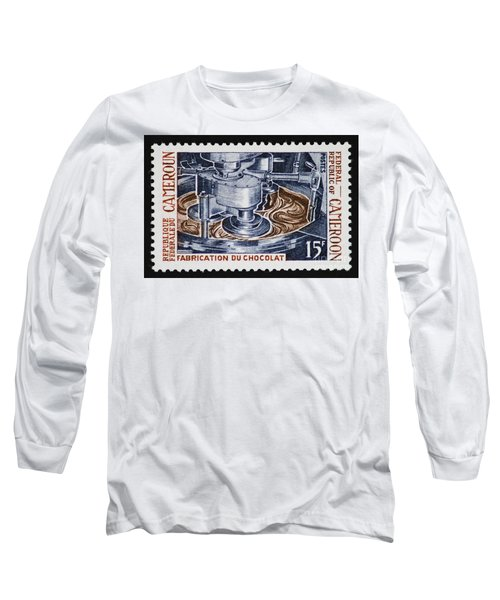The Chocolate Factory Vintage Postage Stamp Long Sleeve T-Shirt by Andy Prendy
