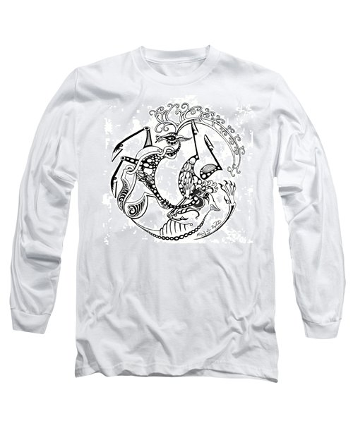 The Circle Of Life Long Sleeve T-Shirt by Melinda Dare Benfield