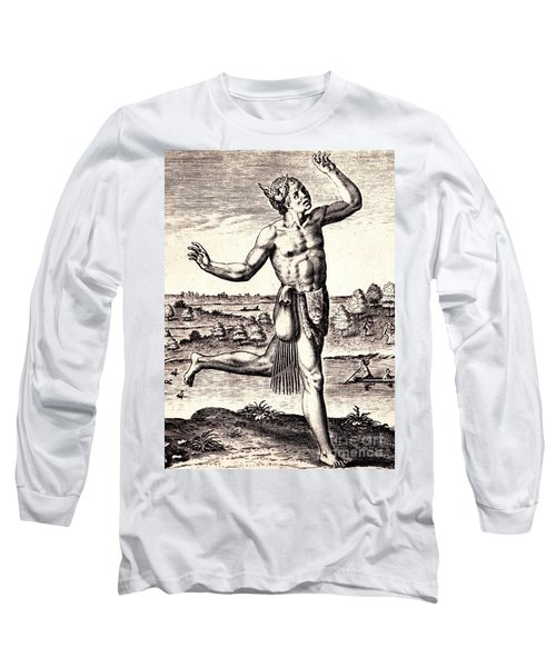 Long Sleeve T-Shirt featuring the drawing The Conjurers Use Strange Gestures by Peter Gumaer Ogden