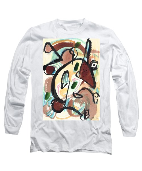 Long Sleeve T-Shirt featuring the painting The Conversation 2 by Stephen Lucas