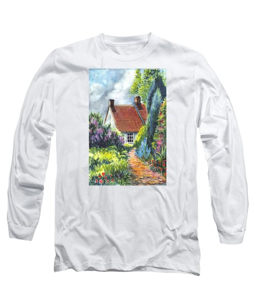 The Cottage Garden Path Long Sleeve T-Shirt