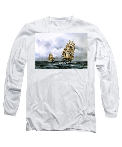 The Cutty Sark And The Red Clipper Long Sleeve T-Shirt