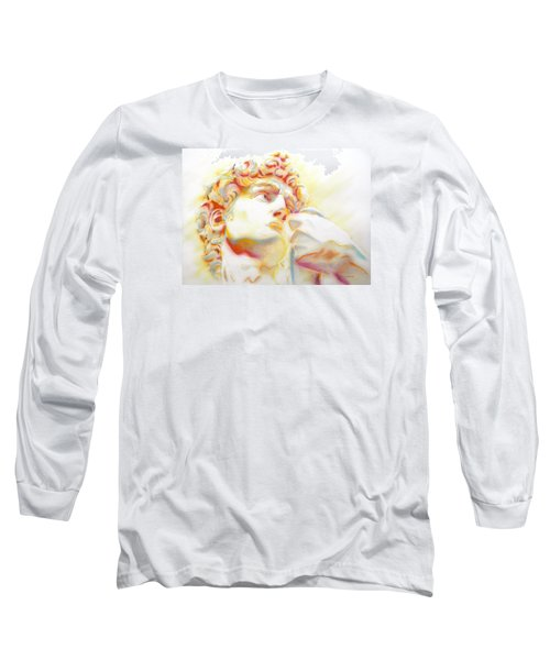 The David By Michelangelo. Tribute Long Sleeve T-Shirt by J- J- Espinoza