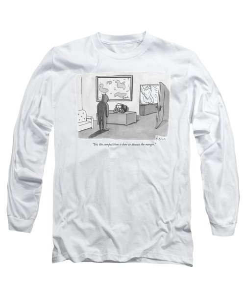 The Devil Stands Before A Male Secretary / Long Sleeve T-Shirt
