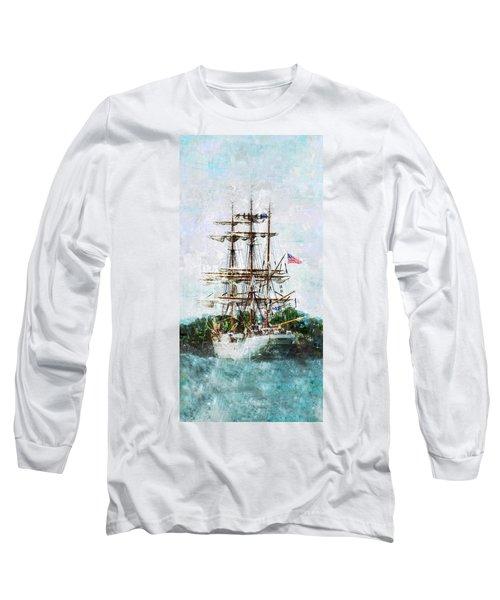 Tall Ship Eagle Has Landed Long Sleeve T-Shirt