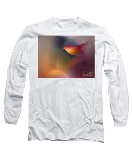 The Early Bird-abstract Art Long Sleeve T-Shirt
