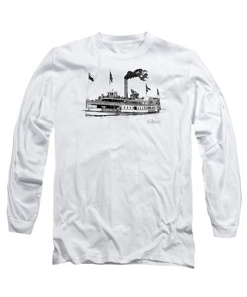 Long Sleeve T-Shirt featuring the drawing The Emma Giles by Ira Shander