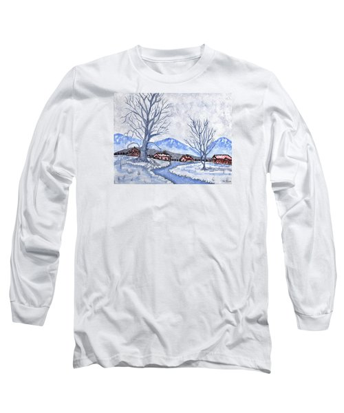 Long Sleeve T-Shirt featuring the painting The Farm Life by Connie Valasco