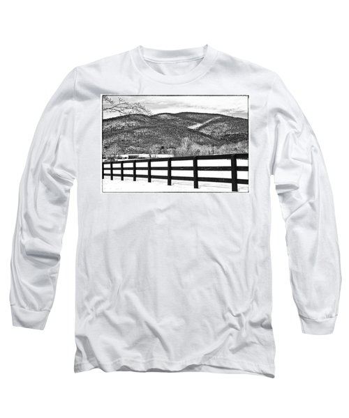 The Fenceline B W Long Sleeve T-Shirt