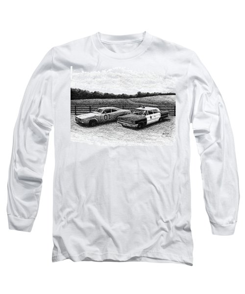 The General Lee And Barney Fife's Police Car Long Sleeve T-Shirt