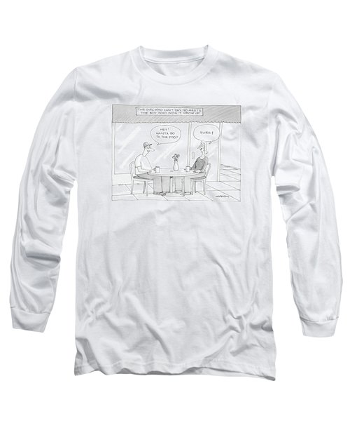 'the Girl Who Can't Say No Meets The Boy Who Long Sleeve T-Shirt