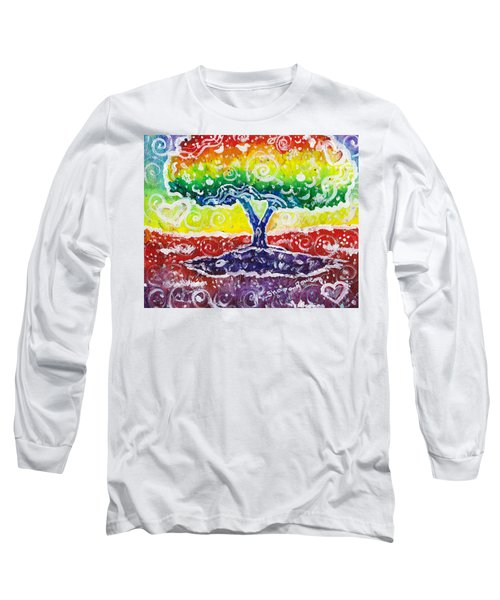 Long Sleeve T-Shirt featuring the painting The Giving Tree by Shana Rowe Jackson