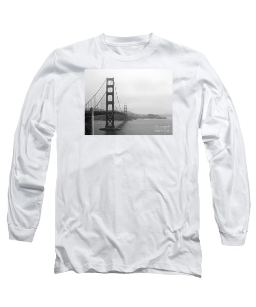 The Golden Gate Bridge In Classic B W Long Sleeve T-Shirt by Connie Fox