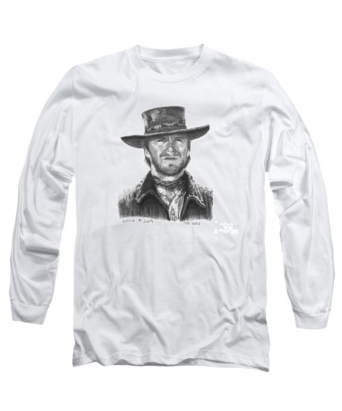 Long Sleeve T-Shirt featuring the drawing the Good by Marianne NANA Betts