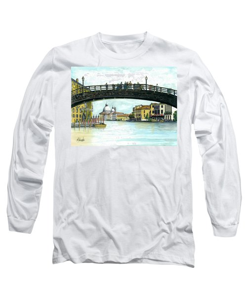Long Sleeve T-Shirt featuring the painting The Grand Canal Venice Italy by Albert Puskaric