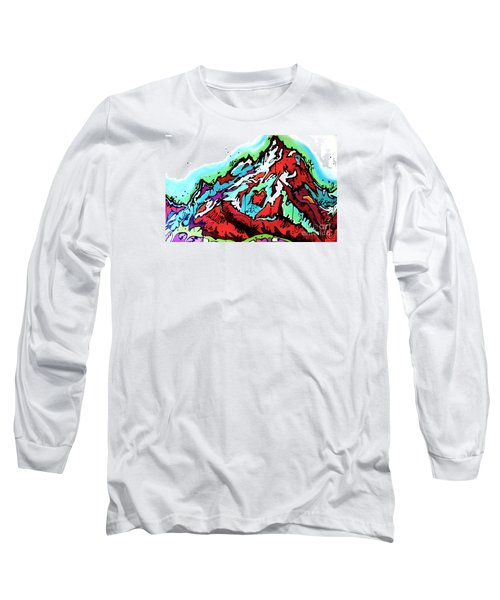 Long Sleeve T-Shirt featuring the painting The Grand From Jackson Lake by Nicole Gaitan