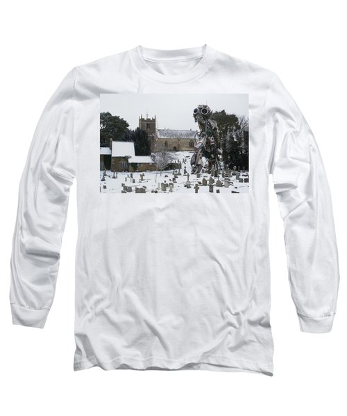 Long Sleeve T-Shirt featuring the digital art The Grim Reaper by Ron Harpham