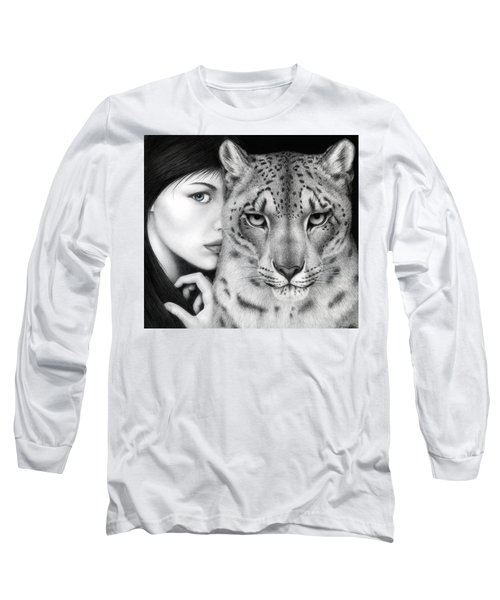 Long Sleeve T-Shirt featuring the painting The Guardian by Pat Erickson