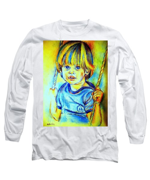Long Sleeve T-Shirt featuring the drawing The Hammock by Helena Wierzbicki